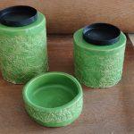 Stoff auf Keramik